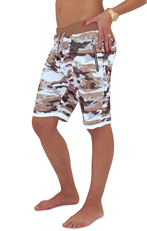 REDRUM Bermuda Shorts Damen Camoflage Military Kurze Hose Modell Cortina  (XS, Camo Braun)  Amazon.de  Bekleidung f74fedc0a6