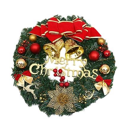 Ruikey 30cm Corona Navidena Guirnalda De La Navidad Decoraciones - Corona-navidea