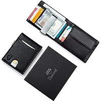 Portafoglio uomo DIAMOND piccolo con protezione RFID con Clip per contanti Porta carte di credito, Porta tessere, tascabile,Porta documenti piccoli,Raccoglitore tessere banconote sottile,Porta monete