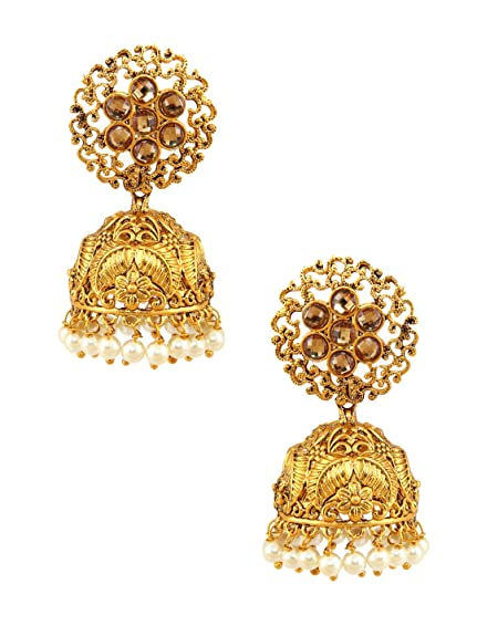 550de6d22db83 Amazon.com: Rubans Gold Plated Traditional Indian Jewelry Bollywood ...