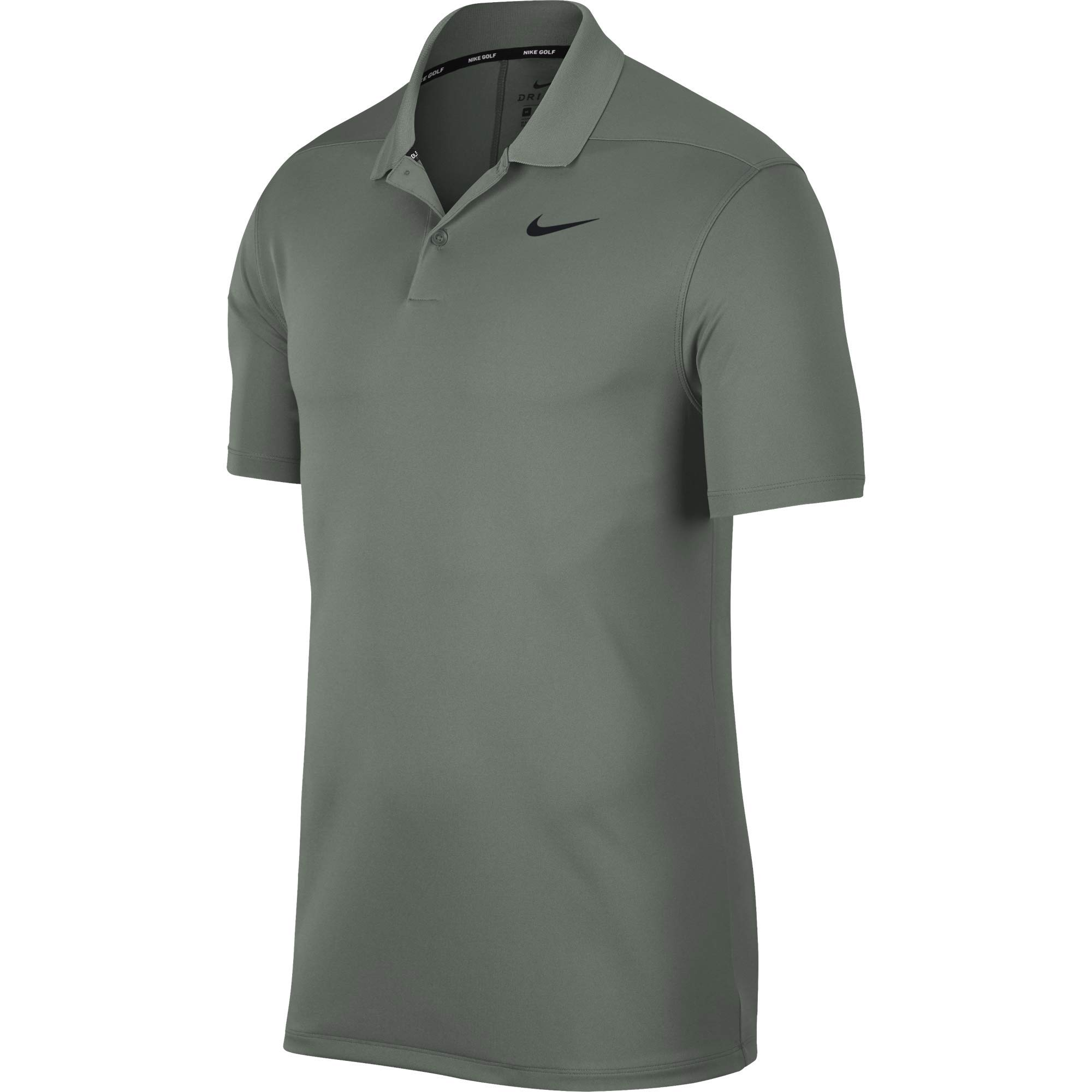 Nike Men's Dry Victory Polo Solid Left Chest, Vintage Lichen/Black, Small by Nike