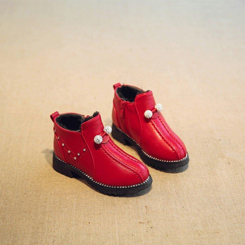 Ni/ño Invierno C/álido Algod/ón Botas de Diamantes de Imitaci/ón Princesa Zapatos Botas de Nieve en Los Ni/ños Grandes de Las Ni/ñas Zapatos M/ás Botas de Terciopelo