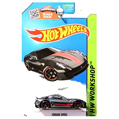 Hot Wheels 2015 HW Workshop Ferrari 599XX 188/250, Dark Gray: Toys & Games