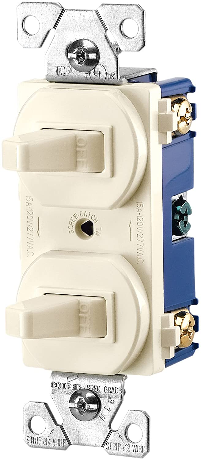 Eaton 271w Box 15 Amps 120 277 Volt Traditional Heavy Duty Grade Two Wiring A 4 Way Switch With 2 Lights Moreover Light Single Pole Switches White Electrical Outlet Boxes