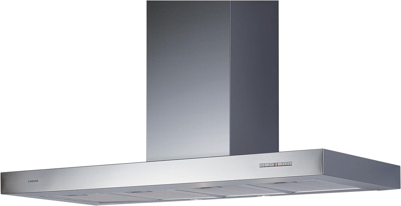 Nodor LICEO 600 - Campana (canalizado/recirculación, 780 m³/h, 44 Db, pared, halógeno, acero inoxidable): Amazon.es: Hogar