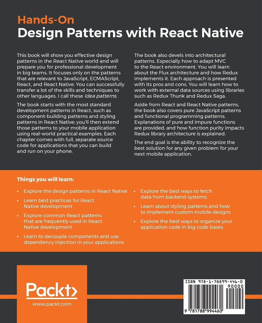 Hands-On Design Patterns with React Native: Proven