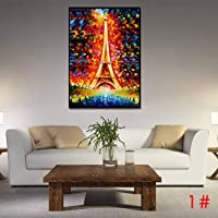 Deals on Qenci 23.6 Inch x 31.9 Inch iffel Tower Painting Wall Art