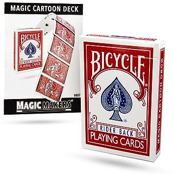 Baraja BICYCLE Cardtoon - Juego de Magia