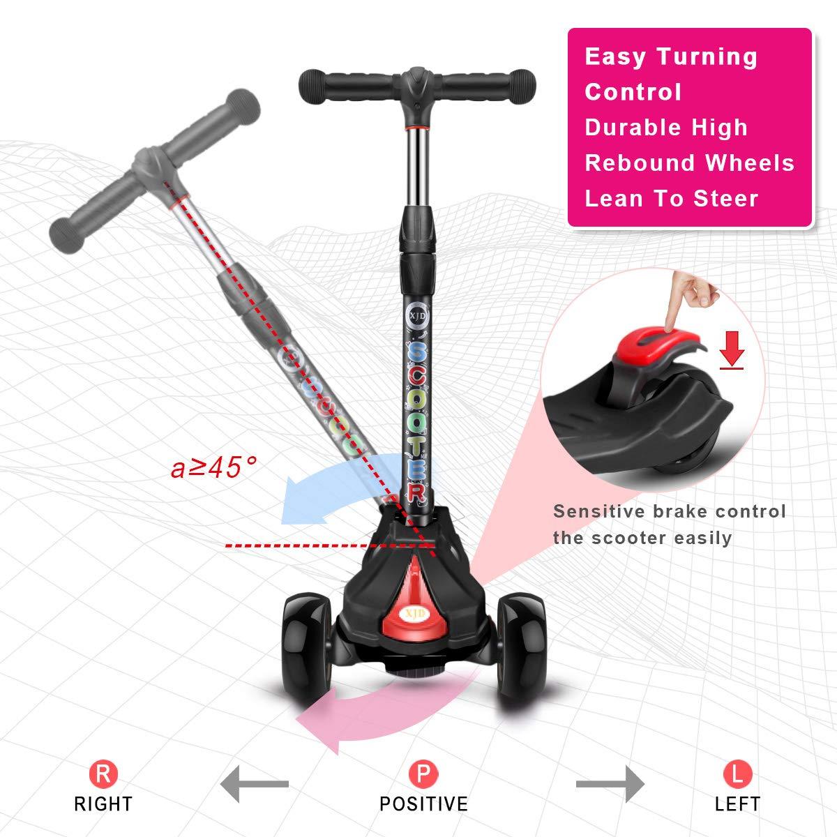 Amazon.com: Monopatín plegable de 3 ruedas para ...