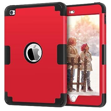 BENTOBEN Funda iPad Mini 4, Carcasa iPad Mini 4 Cover Case Ultra Delgada Súper protección Antigolpes Antichoque PC Híbrido+ Silicona TPU Tres Capas ...