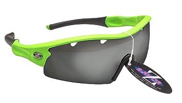 0cf3310261 RayZor Professional Lightweight UV400 Green Sports Wrap Golf Sunglasses