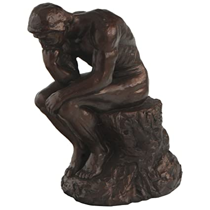 Thinker >> Amazon Com The Thinker By Rodin Reproduction Statue 7 Inches Home