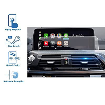 LFOTPP Compatible Tempered Glass Car Navigation Infotainment Center Touch Screen Protector Replacement for 2020 BMW X4 G02 10.25-Inch Screen, If Applicable: GPS & Navigation