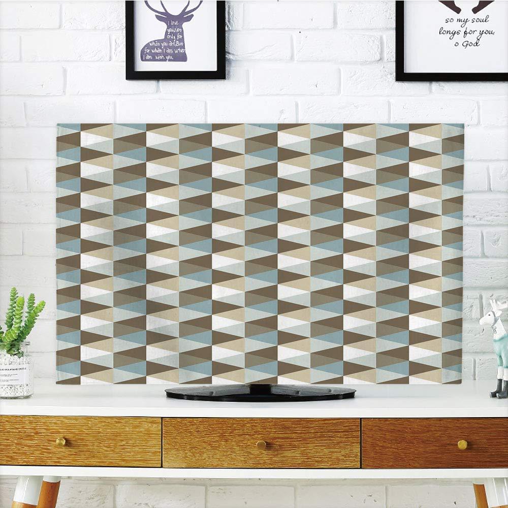 LONSANT LCD ファンキー TV ダストカバー 幾何学模様 抽象的な装飾要素 超現実 モダンアートワーク 淡色調装飾 Vermilion クリームセージグリーン 32インチテレビ対応 TV 37