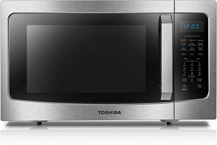 Toshiba ML-EC42P(SS) Microwave Oven with Healthy Air Fry, Smart Sensor, Easy-to-Clean Stainless Steel Interior and ECO Mode, 1.5 Cu.ft