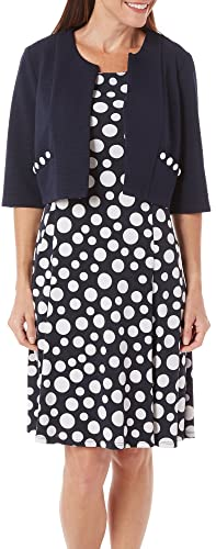 Perceptions Women 2-pc. Jacket & Dot Print Dress