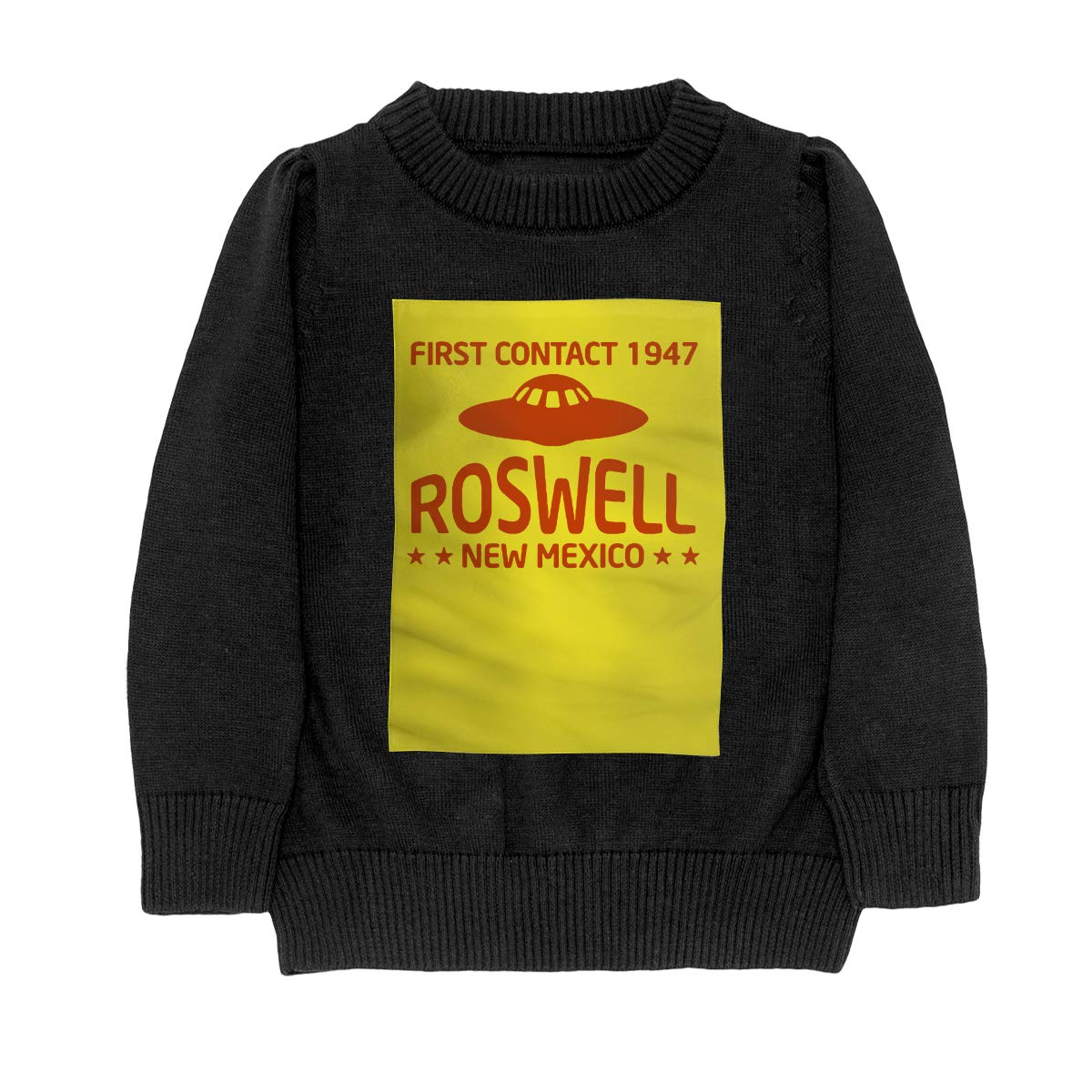 WWTBBJ-B First Contact 1947 Roswell New Mexico Casual Adolescent Boys Girls Unisex Sweater Keep Warm