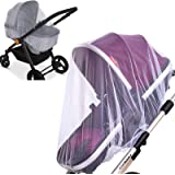 2 Pack Baby Mosquito Net for Strollers Carriers Car Seats Cradles, Portable Durable & Long Lasting Infant Insect Shield…