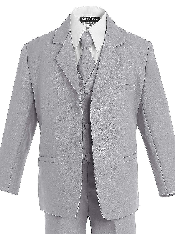 Bello Giovane Boys Formal Dress 5-Piece Suit Set
