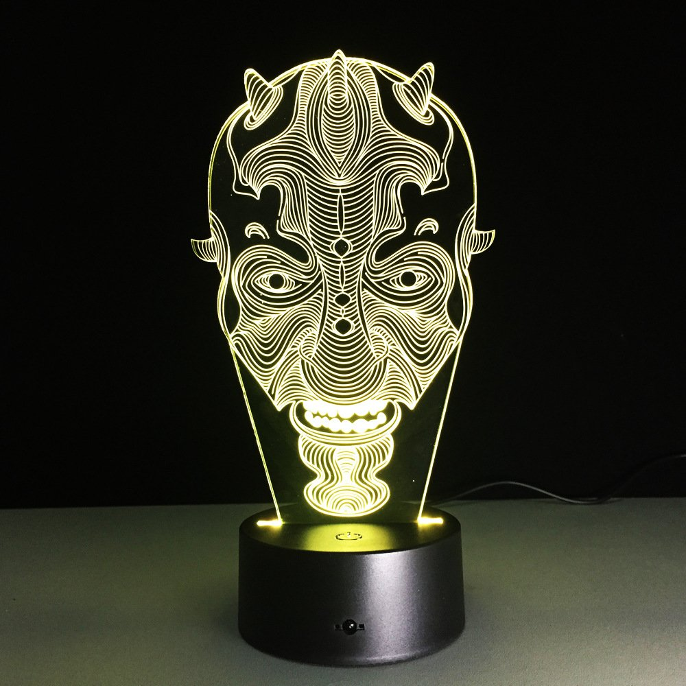 Nuevo The Clowns 3D Led Lampara Bulb 7 Cambio de color Mesa ...