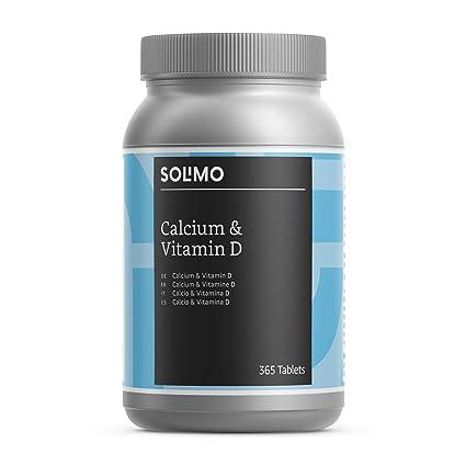 Marca Amazon - Solimo Complemento alimenticio a base de calcio y vitamina D, 365 comprimidos