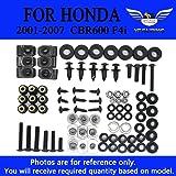Complete Bolt Kits Body Screws Fairing Fasteners Hardware for Honda 2001 2002 2003 2004 2005 2006 2007 CBR 600 F4I ALL BLACK