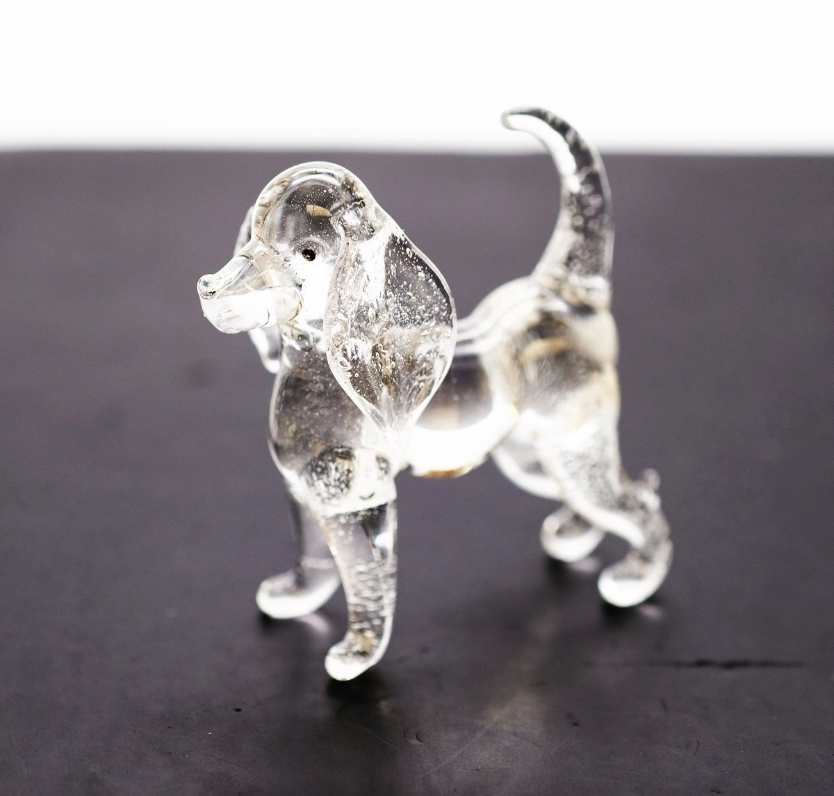 3 D Crystal Toy Basset Hound Hand Bowl Glass Dollhouse Miniatures Decoration CoolPrice Glass