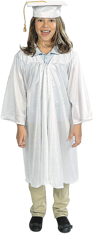 Misc Apparel Graduation Fun Express White Elementary Cap /& Gown Set for Graduation 2 Pieces Apparel Apparel Accessories