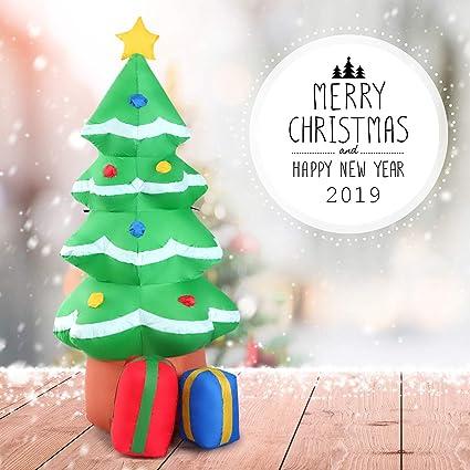 Amazon.com: Goplus - Árbol de Navidad hinchable, impermeable ...