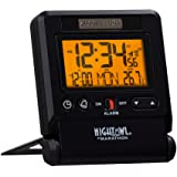 Marathon Atomic Travel Alarm Clock with Auto Back Light Feature, Calendar and Temperature. Folds into One Compact Unit…