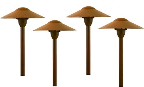Best Pro Lighting 3W LED Low Voltage Mushroom Path Light Set of 4 301RST-LED