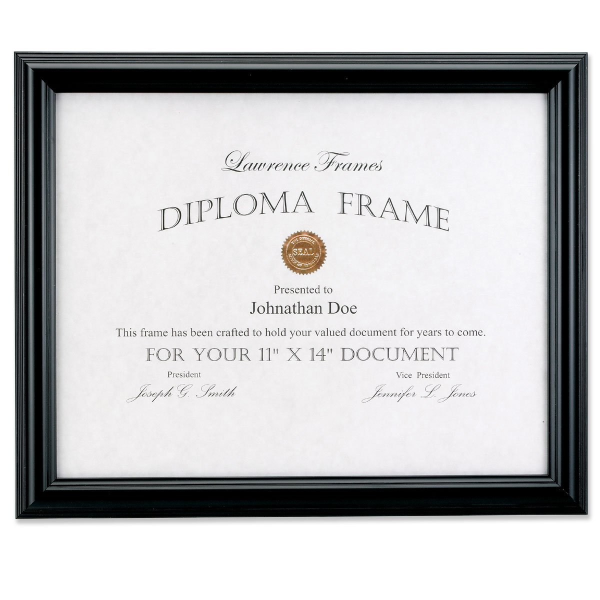 amazoncom lawrence frames 11 by 14 inch black diploma frame domed top document frame