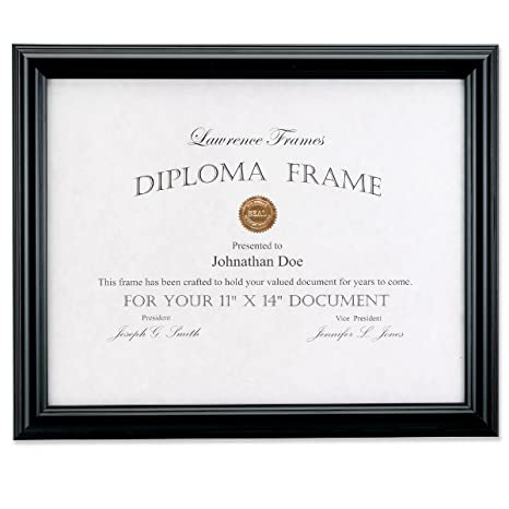 Lawrence Frames 11 By 14 Inch Black Diploma Frame Domed Top Amazon