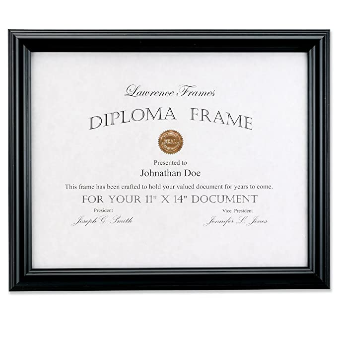 Amazon Lawrence Frames 11 By 14 Inch Black Diploma Frame