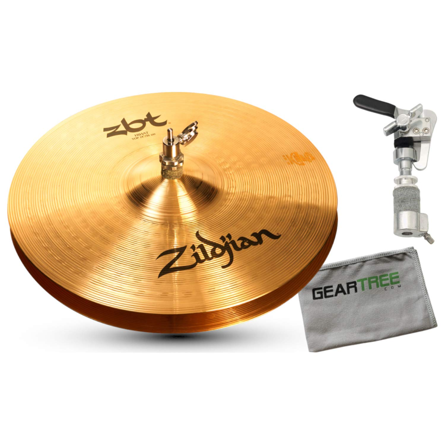 Zildjian ZBT 14 Inch Hi-Hat Cymbals with Gibraltar SCDC Hi-Hat Drop Clutch