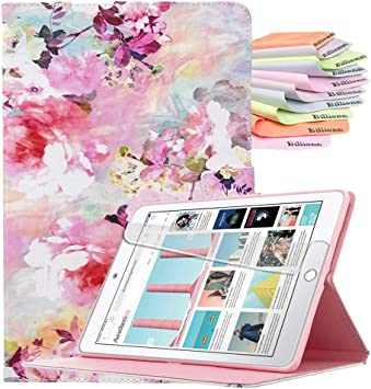 Billionn Case for New iPad 10.2 Inch 2019 Red Flower 7th Generation Auto Sleep//Wake Smart Cover with Free Cleaning Cloth and Screen Protector