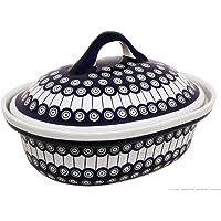 Cocotte en céramique de la marque bunzlauer, en grès v = 2,2 litres motif 8
