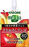 カゴメ 野菜生活100 1食分の野菜ジュレ すりおろしリンゴ 180g×6本