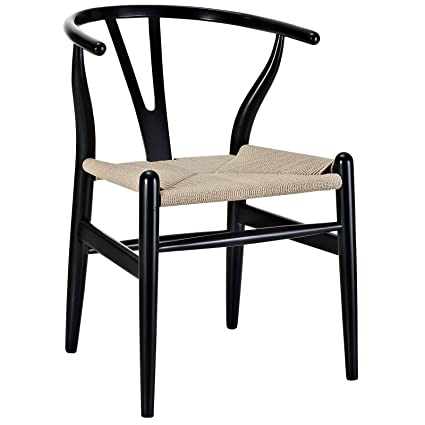Charming Poly And Bark Wegner Wishbone Style Chair, Black
