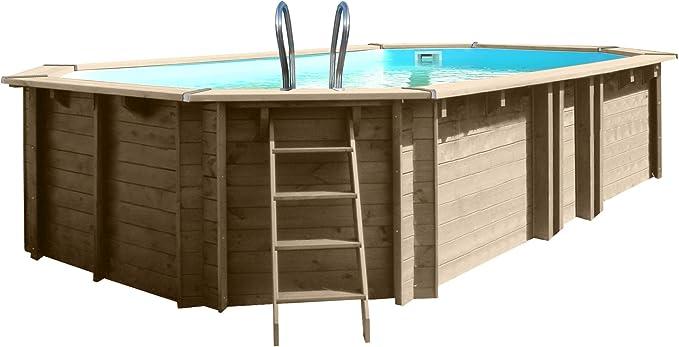 Piscina de madera GRE ovalada Vermela Wooden Pool GRE 790090 ...