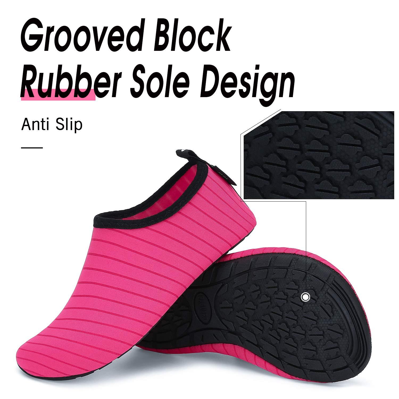 SAGUARO Child Boys Girls Water Shoes Quick-Dry Barefoot Lightweight Breathable Beach Swimming Pool Aqua Socks 4.5-5.5 Little Kid