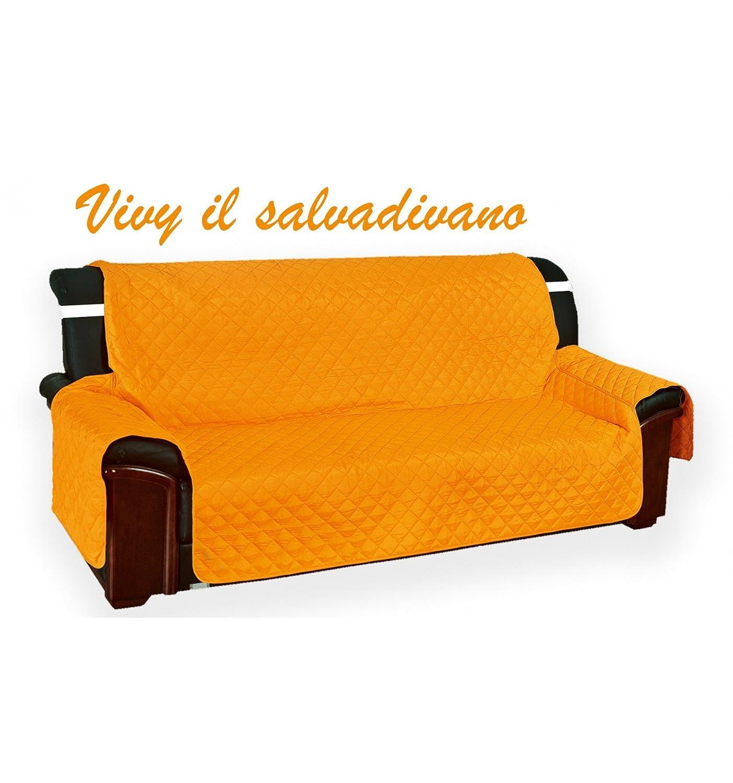 Funda acolchada «Vivy» para sofás de 3 plazas, color naranja ...