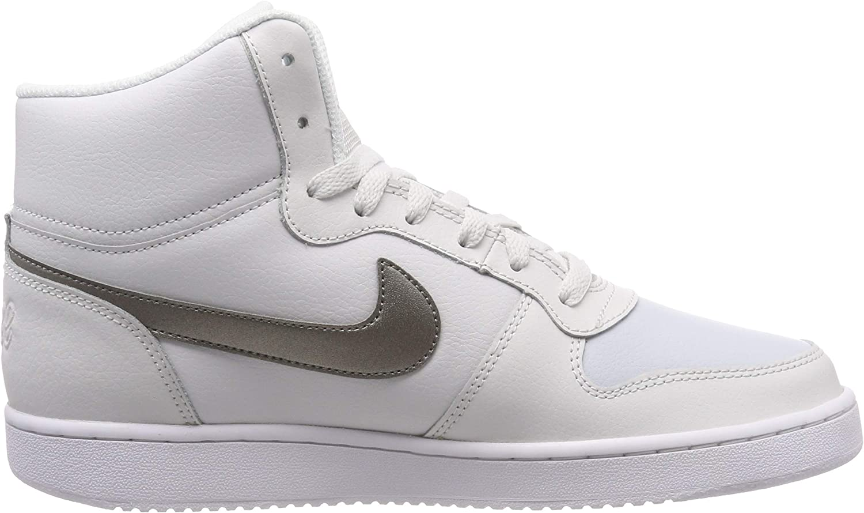 Nike Wmns Ebernon Mid, Scarpe da Fitness Donna Multicolore Platinum Tint Mtlc Pewter Pure Platinum 002