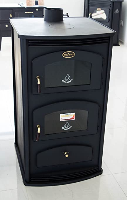 Estufa de leña con horno, 12 kW, de Prometey