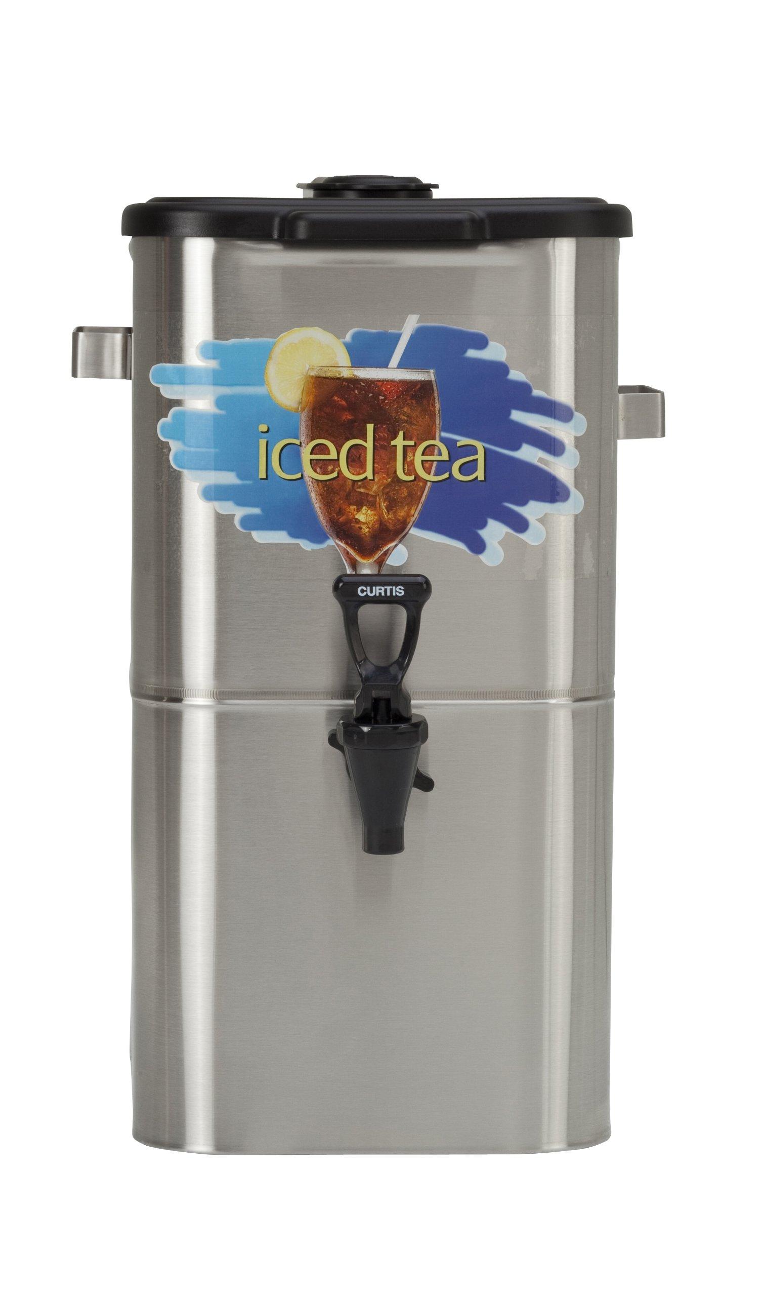 Wilbur Curtis Iced Tea Dispenser 4.0 Gallon Tea Dispenser, Oval 17''H - Designed to Preserve Flavor - TCO417A000 (Each) by Wilbur Curtis