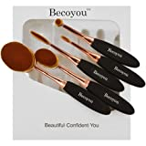 Amazon Price History for:Becoyou Makeup Brushes Set Professional Oval Makeup Brush Cosmetic Brushes With Soft Toothbrush Shaped Design (Rose Gold)