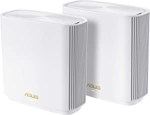 ASUS ZenWiFi AX6600 Tri-Band Mesh WiFi 6 System (XT8 2PK) - Whole Home Coverage up to 5,500 sq.ft & 6+ rooms, AiMesh, Free Lifetime Internet Security, Easy Setup, 3 SSID, Parental Control, White