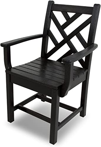 POLYWOOD CDD200BL Chippendale Dining Arm Chair