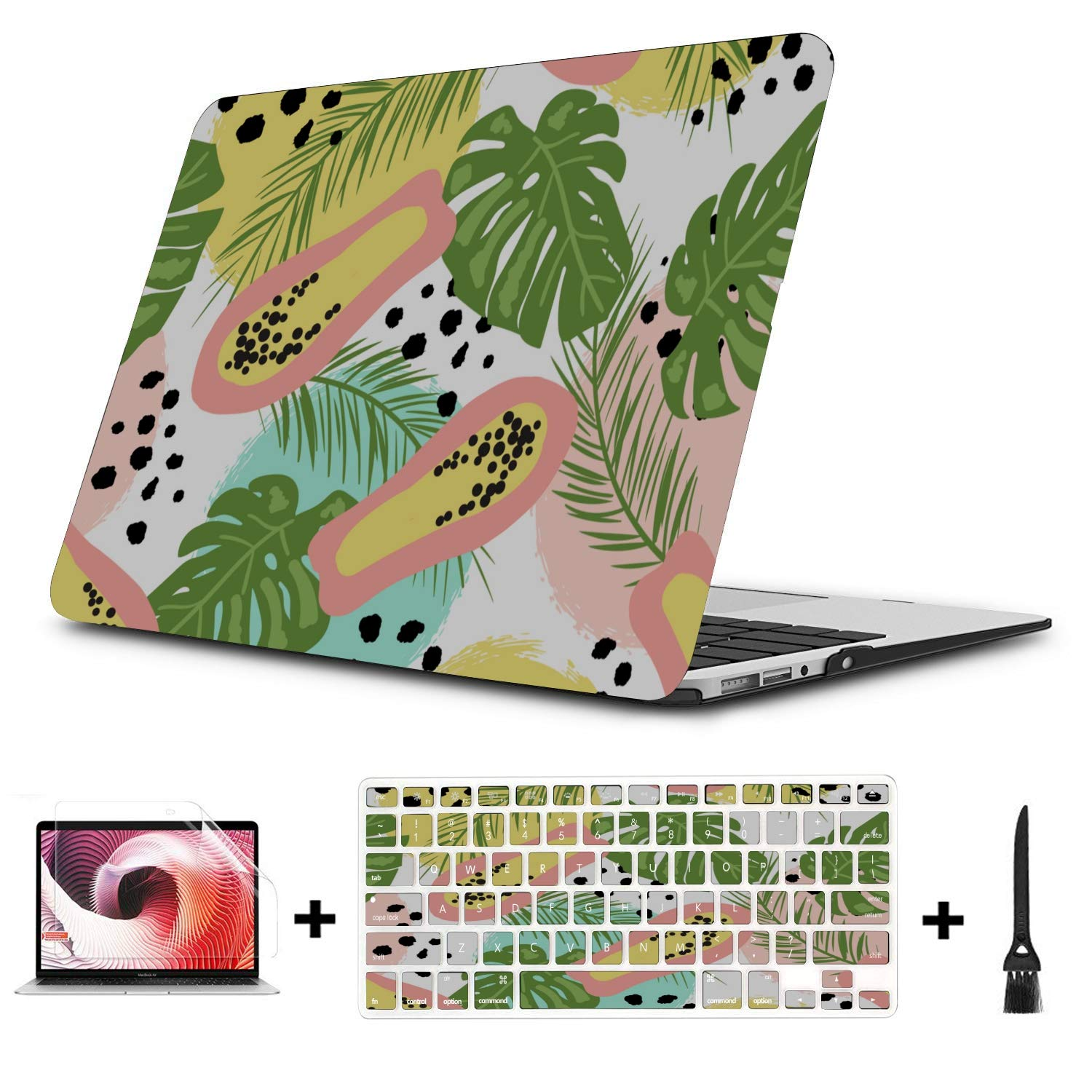 13 MacBook Case Summmer Cute Fashion Fruit Papaya Plastic Hard Shell Compatible Mac Air 11 Pro 13 15 MacBook Pro 15in Case Protection for MacBook 2016-2019 Version