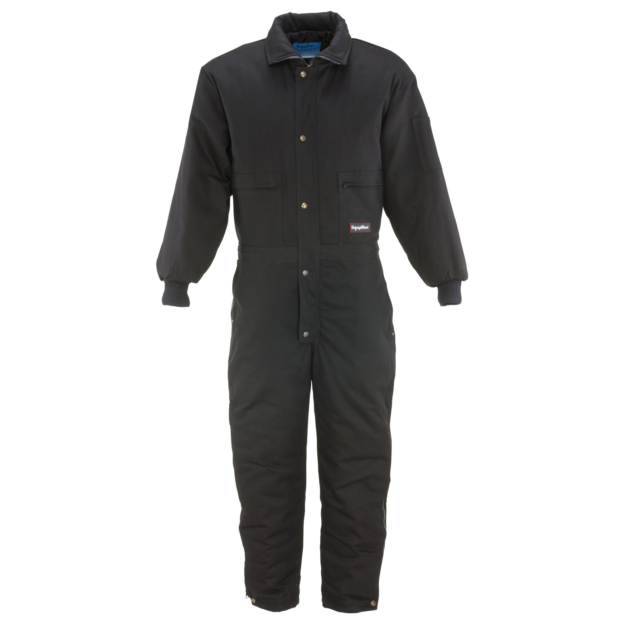 RefrigiWear Men's Comfortguard Coveralls Black Medium Tall